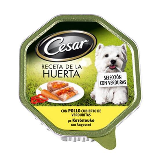 Tarrina Receta De La Huerta Pollo y Verduras Para Perro 150g de Cesar