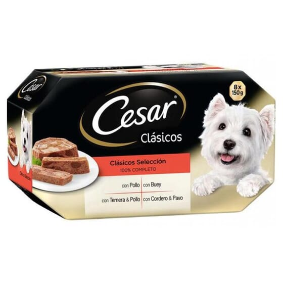Pack Selección Recetas Clásicas 8 Tarrinas Para Perro 150g de Cesar