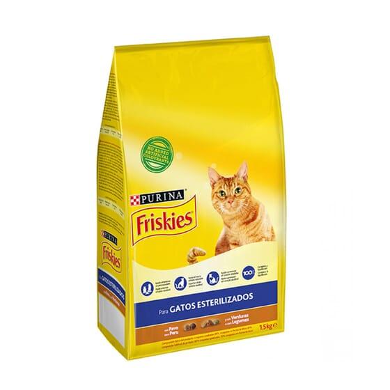 Gatos Esterilizados Con Pavo y Verduras 1,5 Kg de Friskies