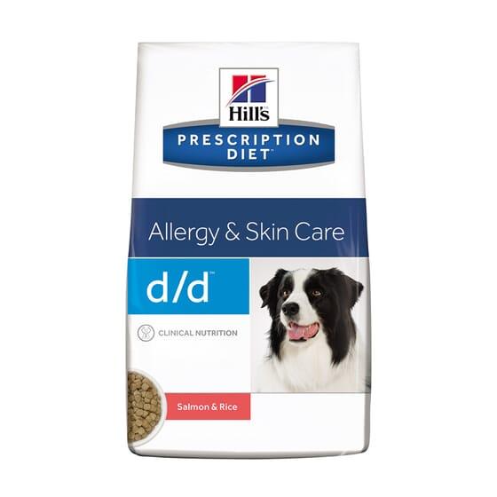 Prescription Diet Cão d/d Allergy Skin Care Salmão e Arroz 12 Kg da Hill's