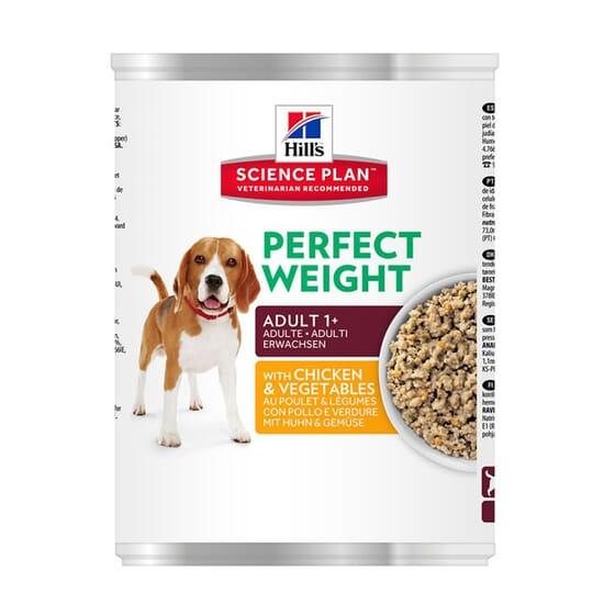 Science Plan Cão Adulto Perfect Weight Lata Frango e Vegetais 363g da Hill's