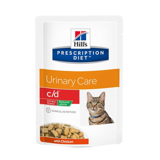 Prescription Diet Gato c/d Urinary Stress Reduced Calorie Frango 85g da Hill's