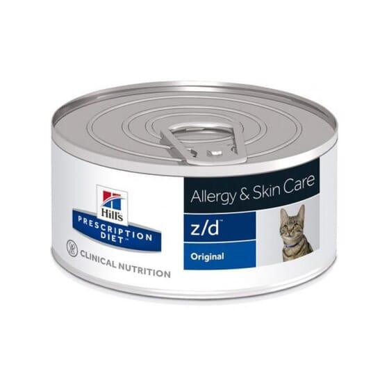 Prescription Diet Gato z/d Allergy Skin Care Lata Original 156g da Hill's