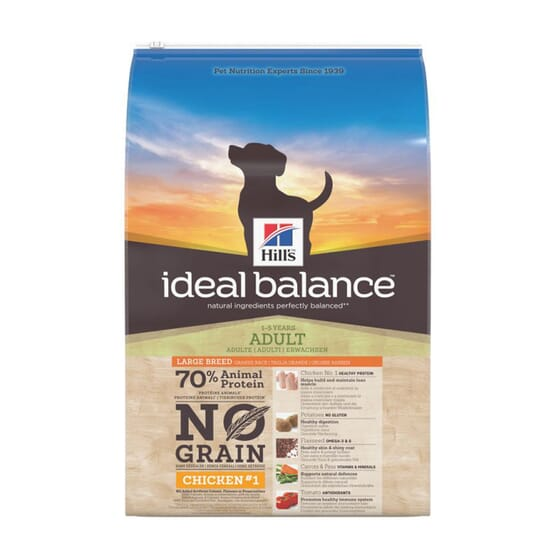 Ideal Balance Cão Adulto Raça Grande Sem Cereais Frango e Batata 12 Kg 12 Kg da Hill's