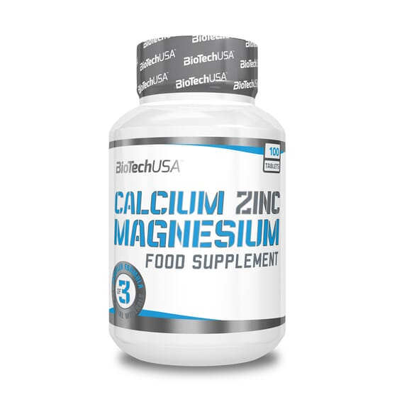 Calcium Zinc Magnesium 100 Tabs de Biotech Usa
