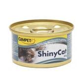 ShinyCat Comida Húmida Atum e Gambas 85g da GimCat
