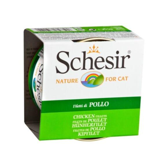 Pâtée Pour Chats Filets De Poulet 1 Boîte De 85 g de Schesir