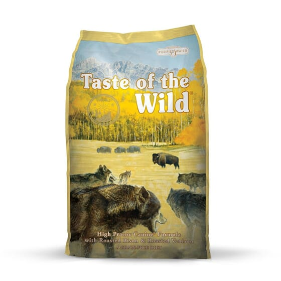 Ração Cães High Prairie Bisonte Assado e Veado 13 Kg da Taste Of The Wild