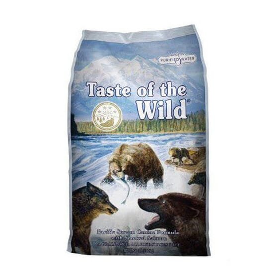 Ração Cães Pacific Stream Salmão Fumado 13 Kg da Taste Of The Wild