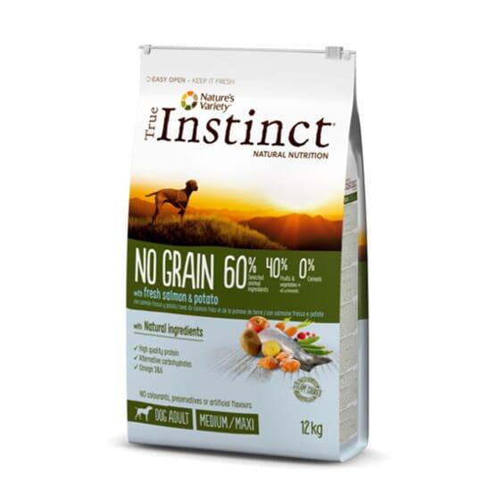 No Grain Salmão e Batata Medium-Maxi Adulto 12 Kg da True Instinct
