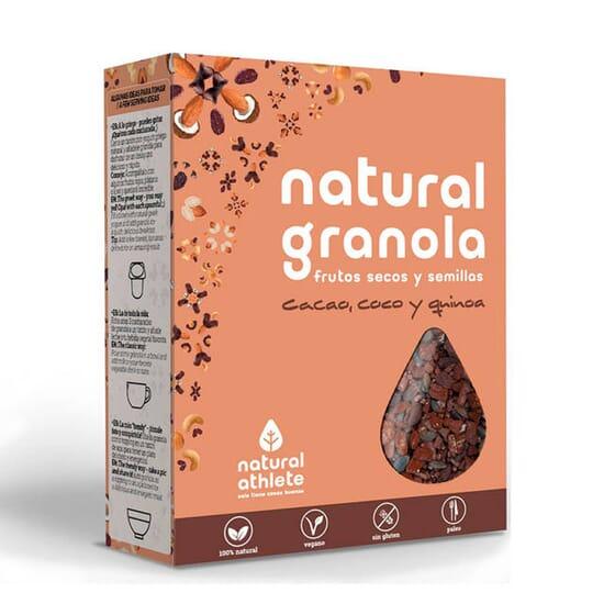 NATURAL GRANOLA DE CACAO, COCO Y QUINOA 325g de Natural Athlete