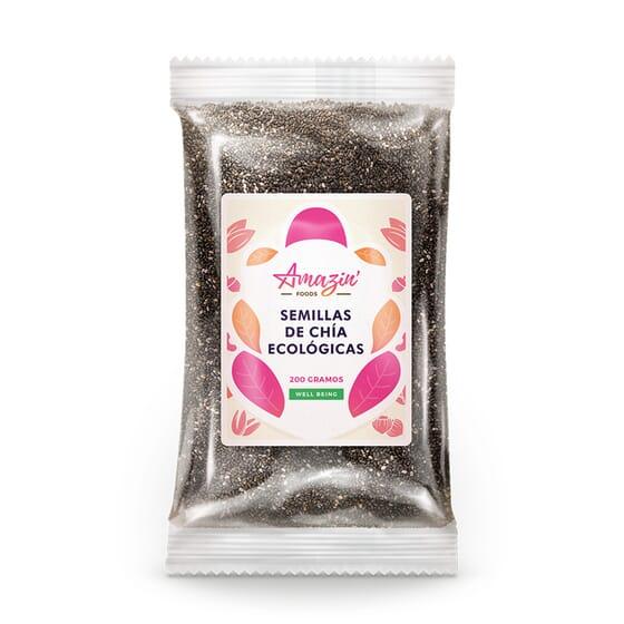 SEMILLAS DE CHÍA ECOLÓGICAS 200g de Amazin' Foods