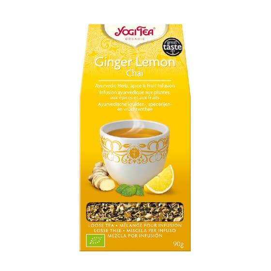 GENGIBRE E LIMÃO CHAI 90g da Yogi Tea.