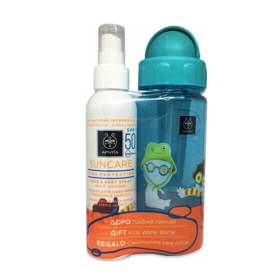 Confezione Spray Solare Bambini SPF 50 + Borraccia in Regalo 1 Packs de Apivita