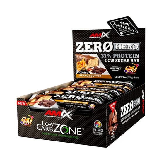 ZERO HERO 31% PROTEIN BAR 15 Barritas de 65g de Amix Nutrition