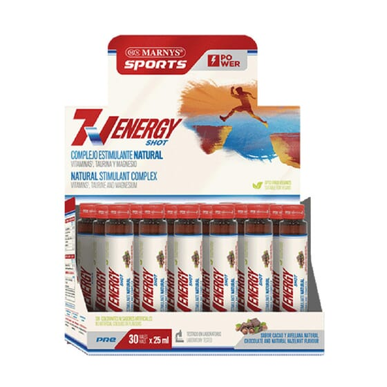 7V ENERGY SHOT 30 Frascos de 25ml da Marnys Sports