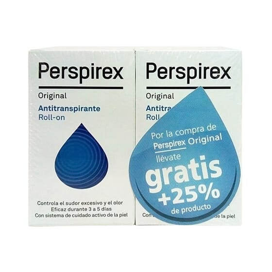 PERSPIREX ORIGINAL ROLL-ON ANTITRANSPIRANTE 20ml + 25% GRATIS