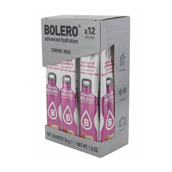 BOLERO BANANA E MORANGO (COM STEVIA) 12 Sticks de 3g