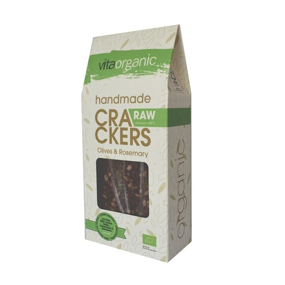 RAW CRACKERS AZEITONAS E ALECRIM BIO 90g da Vita Organic