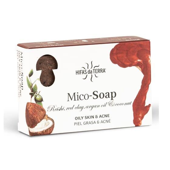 MICO-SOAP REISHI, ARGILLA ROSSA, OLIO DI ARGAN E COCCO 150 g di Hifas da Terra