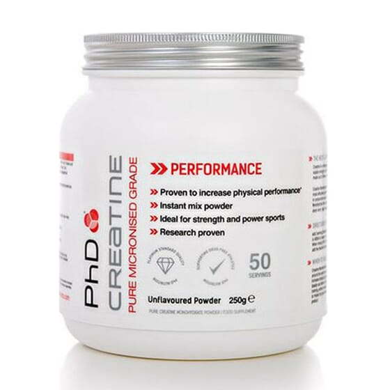 MICRONISED PHARMACEUTICAL CREATINE 250g PhD Nutrition