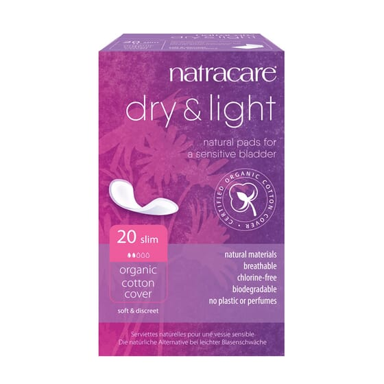 Dry-Light Pensos Higiénicos para a incontinência Slim 20 Un da Natracare