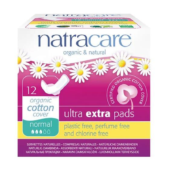 Compresas Ultra Extra Normal 12 Uds de Natracare