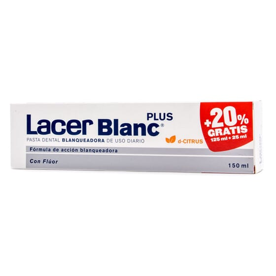 LACER BLANC PLUS PASTA DENTÍFRICA CITRUS 20% GRATIS 150ml