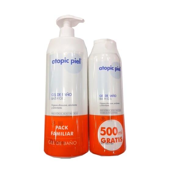 Atopic Pelle Gel Doccia 750 ml + 500 ml Gratis 1 Confezioni di Repavar