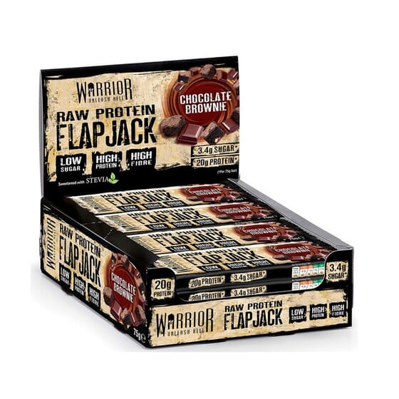 Warrior Raw Protein Flapjacks 12 x 75g di Warrior