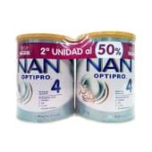 NESTLE NAN OPTIPRO 4 2ª UD 50% 2 Ud 800 g de Nestle NAN