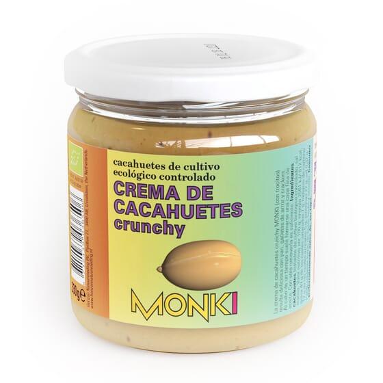 CREMA DE CACAHUETE CRUJIENTE ECO 330g de Monki