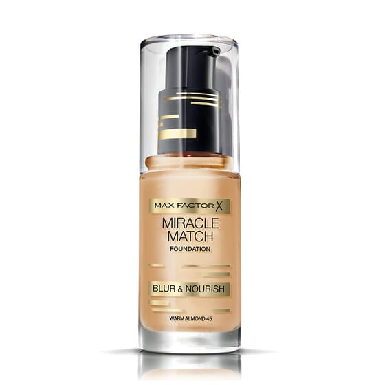 MIRACLE MATCH FOUNDATION #45 WARM ALMOND 30 ML da Max Factor
