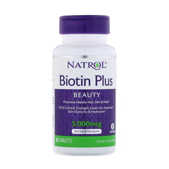 BIOTIN PLUS BEAUTY 5000mcg 60 Tabs da Natrol