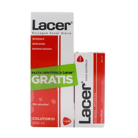 LACER COLUTORIO 500ml + PASTA DENTÍFRICA GRATIS 35ml