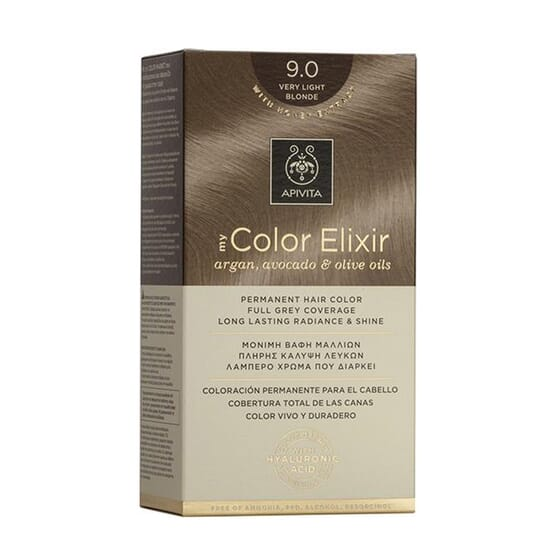 MY COLOR ELIXIR N9.0 VERY LIGHT BLONDE 1Un de Apivita