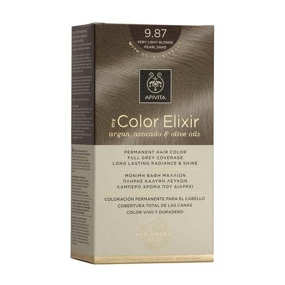 My Color Elisir N9.87 Very Light Blonde Pearl Sand 1 Ud de Apivita