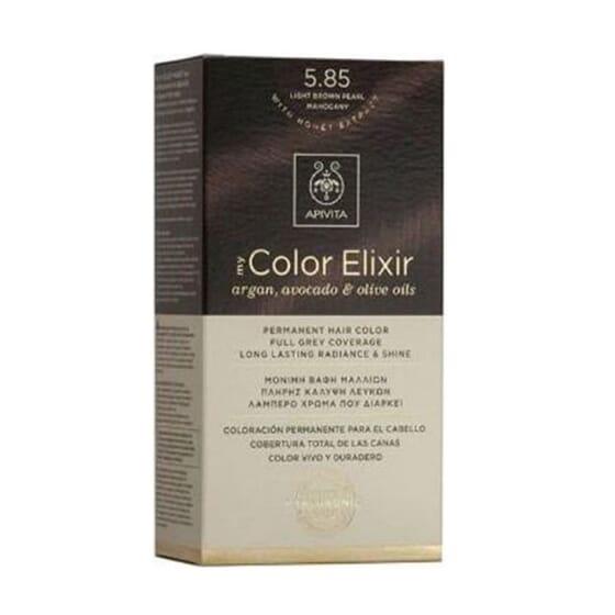 MY COLOR ELIXIR N5.85 LIGHT BROWN PEARL MAHOGANY 1Un da Apivita