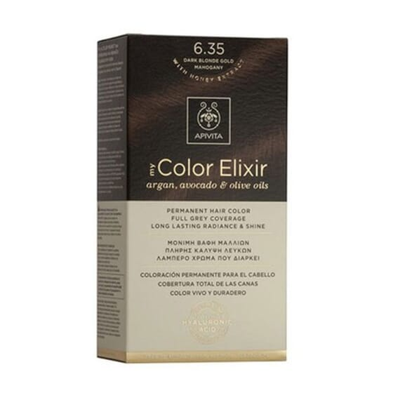 MY COLOR ELIXIR N6.35 DARK BLONDE GOLD MAHOGANY 1Ud de Apivita
