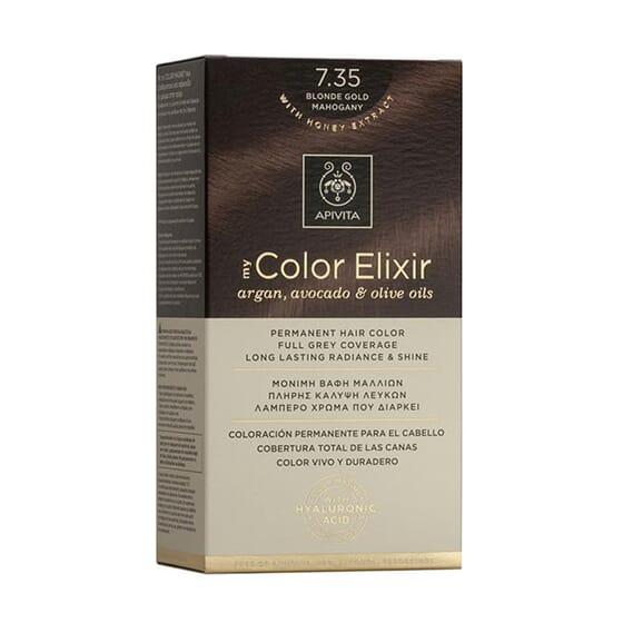 MY COLOR ELIXIR N7.35 BLONDE GOLD MAHOGANY 1Ud de Apivita
