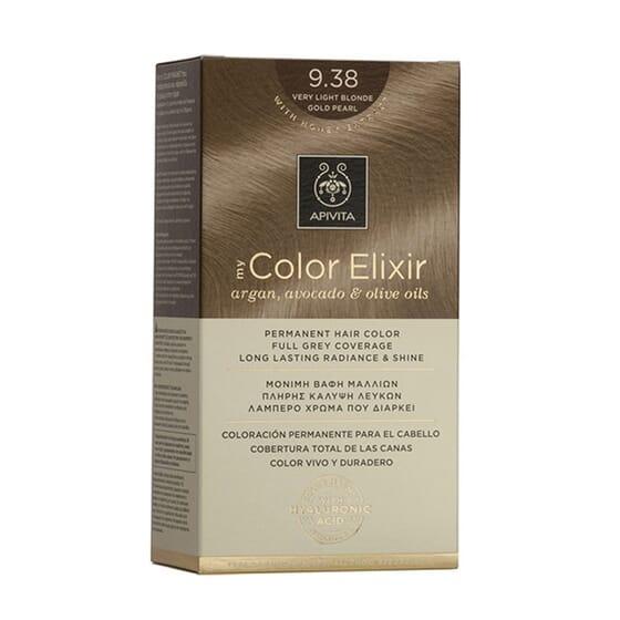 MY COLOR ELIXIR N9.38 VERY LIGHT BOLNDE GOLD PEARL 1Un da Apivita