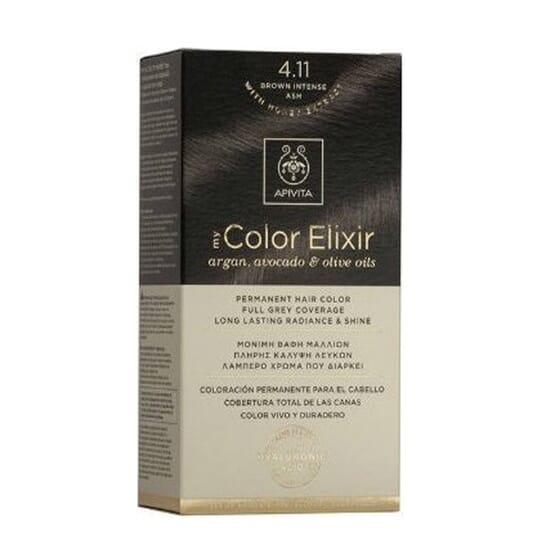 MY COLOR ELIXIR N4.11 BROWN INTENSE ASH 1 Un da Apivita