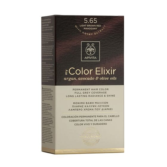 MY COLOR ELIXIR N5.65 LIGHT BROWN RED MAHOGANY 1Un da Apivita