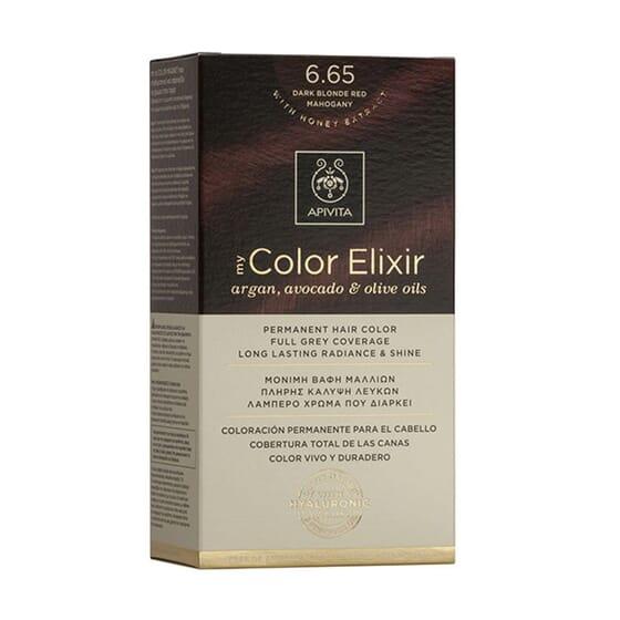 MY COLOR ELIXIR N6.65 DARK BLONDE RED MAHOGANY 1Ud de Apivita