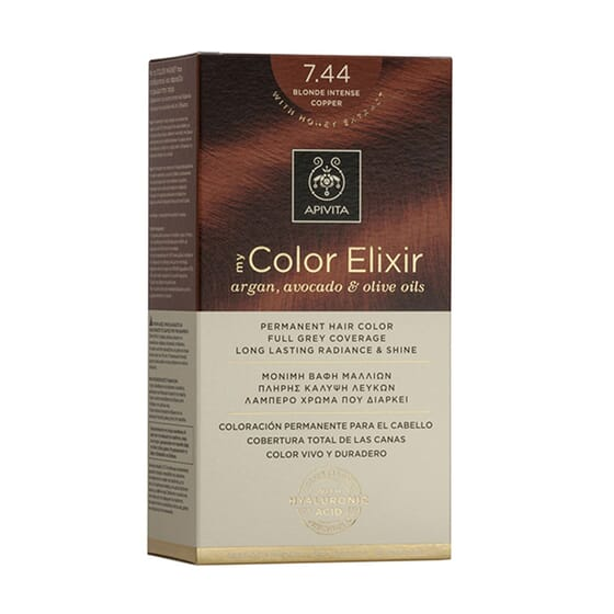 MY COLOR ELIXIR N7.44 BLONDE INTENSE COPPER 1Ud de Apivita