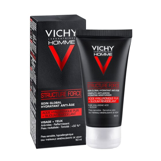 HOMME STRUCTURE FORCE TRATTAMENTO IDRATANTE ANTI-ETÀ 50 ml di Vichy
