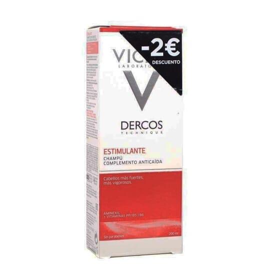 DERCOS CHAMPÚ ESTIMULANTE ANTICAÍDA -2€ DESCUENTO 200 ml de Vichy