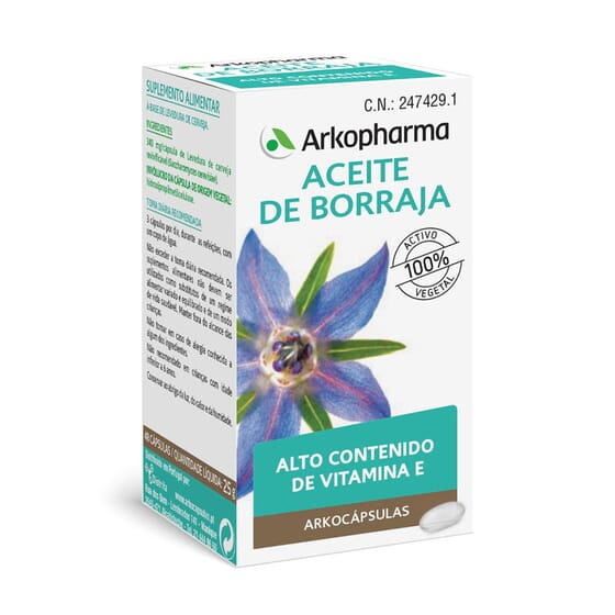 ARKOCÁPSULAS ACEITE DE BORRAJA 50 Caps de Arkopharma