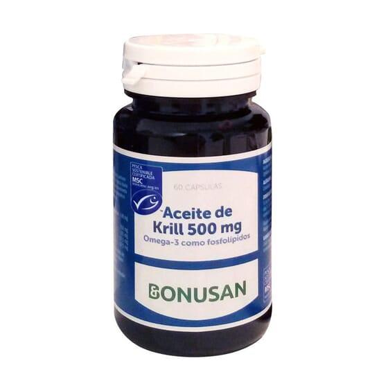 ACEITE DE KRILL 500MG 60 Perlas de Bonusan.