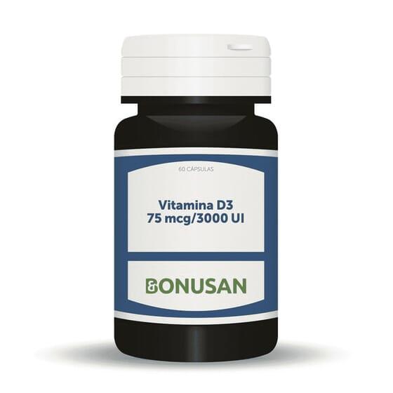 VITAMINA D3 (3000UI) 60 Caps da Bonusan.